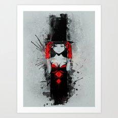 Top Hat Lady Art Print