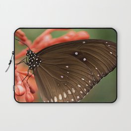 Butterfly On A Flower Laptop Sleeve