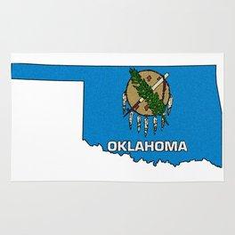 Oklahoma Map with State Flag Rug