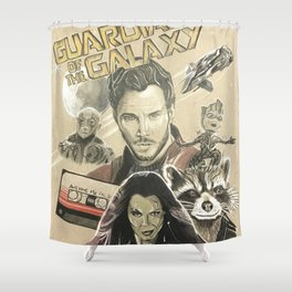 Guardians of the galaxy montage Shower Curtain