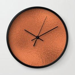 Simply Metallic in Deep Copper Wall Clock