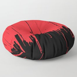 Paint it Red Floor Pillow
