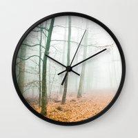 calm Wall Clocks featuring calm by Iris Lehnhardt