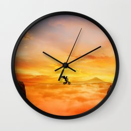 sunset balance Wall Clock