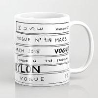 vogue Mugs featuring vogue forever by ElisaGabi