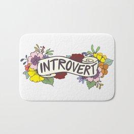 Floral Introvert Banner Bath Mat