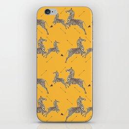 Royal Tenenbaums Zebra Wallpaper - Mustard Yellow iPhone Skin