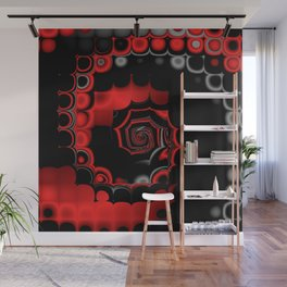 TGS Fractal Abstract in Red and Black Wall Mural
