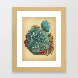 Jules Verne Framed Art Print