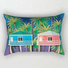 Palolem Beach Huts Rectangular Pillow