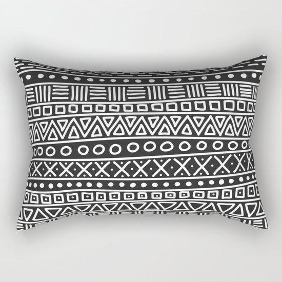 Geometric Doodle Plaid Rectangular Pillow