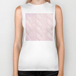 White Pink Sweater Biker Tank