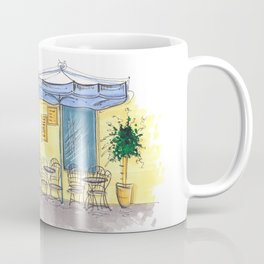 Bar Cafe Caffe in Trastevere in Rome hand-painted watercolor sketch Coffee Mug