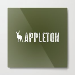 Deer: Appleton, Wisconsin Metal Print