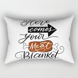Meat Blanket Rectangular Pillow