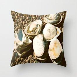 She sells seashells by the seashore Throw Pillow