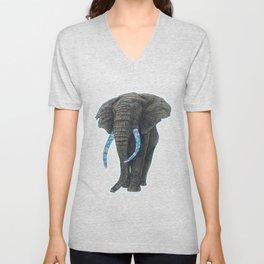 BLUE ELEPHANT Unisex V-Neck