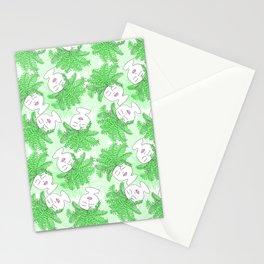 Fern-tastic Girls in Neon Green Stationery Cards