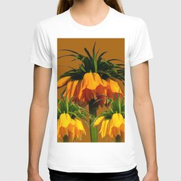 CARAMEL COLOR YELLOW CROWN IMPERIAL FLOWERS T-shirt