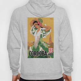 1955 Cordoba Spain May Festivals Travel Poster Hoody