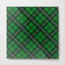 Scottish Plaid-Green Metal Print