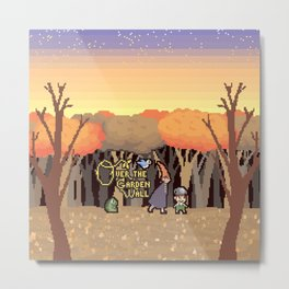 Over the Garden Pixel Metal Print