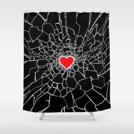Heartbreaker III Black Shower Curtain