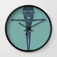 prometheus Wall Clocks featuring prometheus by doodle every movie i watch