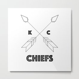 Chiefs Arrowhead Metal Print