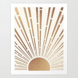 Sun Shines Inside you-Gold Edition Art Print