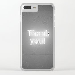 Thank You (Black and White) Clear iPhone Case
