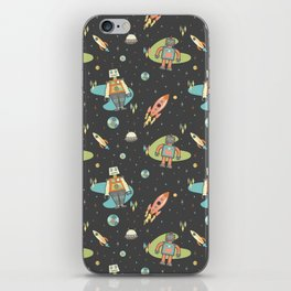 Robots in Space iPhone Skin
