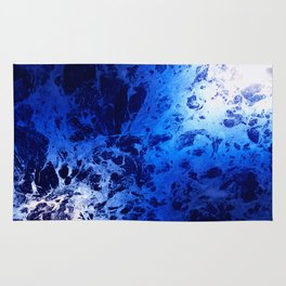 Blue Marble Dream Abstract Rug