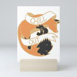 Chill Out Fox Nature Feel-Good Plaque Mini Art Print