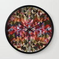 wonderland Wall Clocks featuring Wonderland by Angelo Cerantola