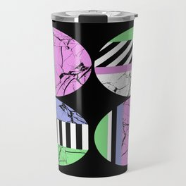 AMPS Uno - Abstract Marble Pastel Stripes Travel Mug