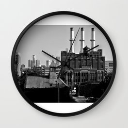 Detroit Cityscape Wall Clock