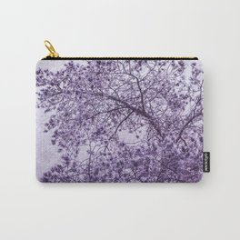 Beautiful Pine Tree Silhouette Purple Color #decor #society6 #buyart Carry-All Pouch