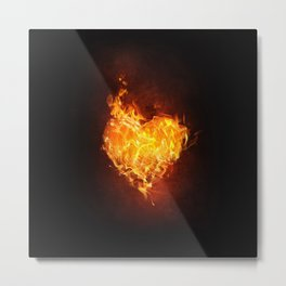Burning Heart Metal Print