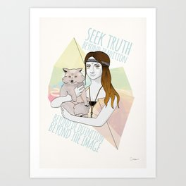 Mona Lisa meets Pocahontas Art Print
