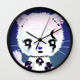 Punky Persian - Dark Blue Wall Clock
