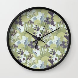 Blooms in Purple Wall Clock