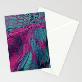 Asia Dragon Scales Stationery Cards