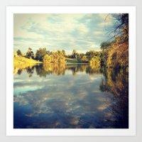 Sunset on Reflecting Water Art Print
