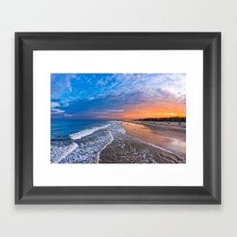Magical Sunset on Tybee Island Framed Art Print