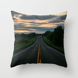 Just standin' in the middle of a country road and watchin' the sun set... Throw Pillow