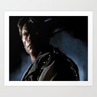 terminator Art Prints featuring Terminator by Andrea Solfato