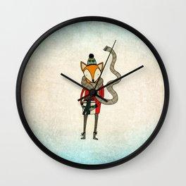 Foxy Christmas Wall Clock
