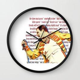 queen freddie Wall Clock