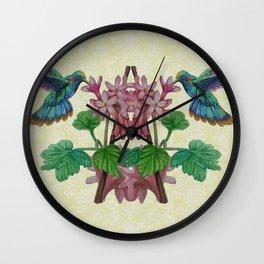 Twin Hummingbirds Wall Clock